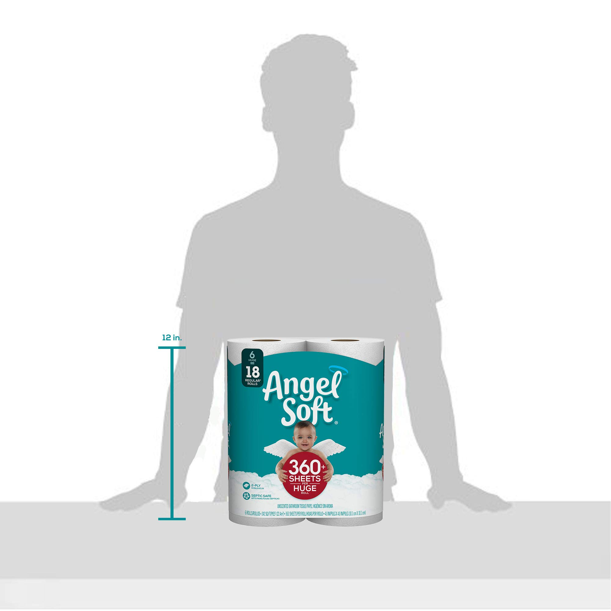ANGEL SOFT Toilet Paper Bath Tissue, 36 Huge Rolls, 360+ 2-Ply Sheets Per Roll by Angel Soft (Image #10)