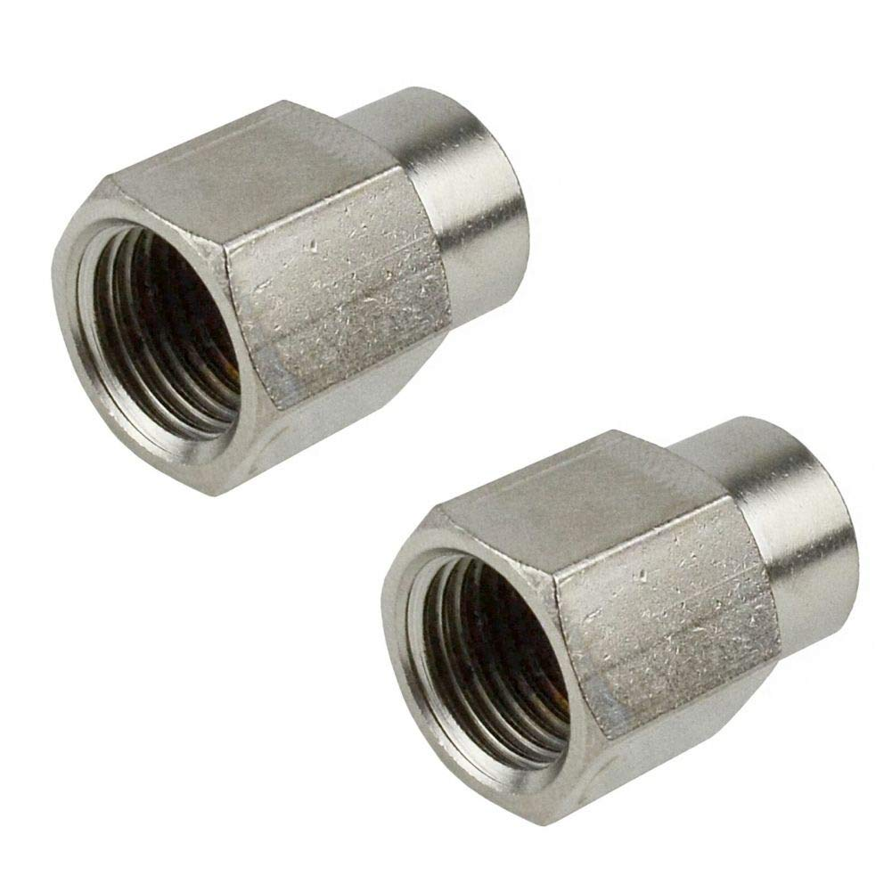 2 Pack Air Line Hose Fitting Connector Adapter 1/4 to 1/8 BSP Female Thread Bush by Tao tao family