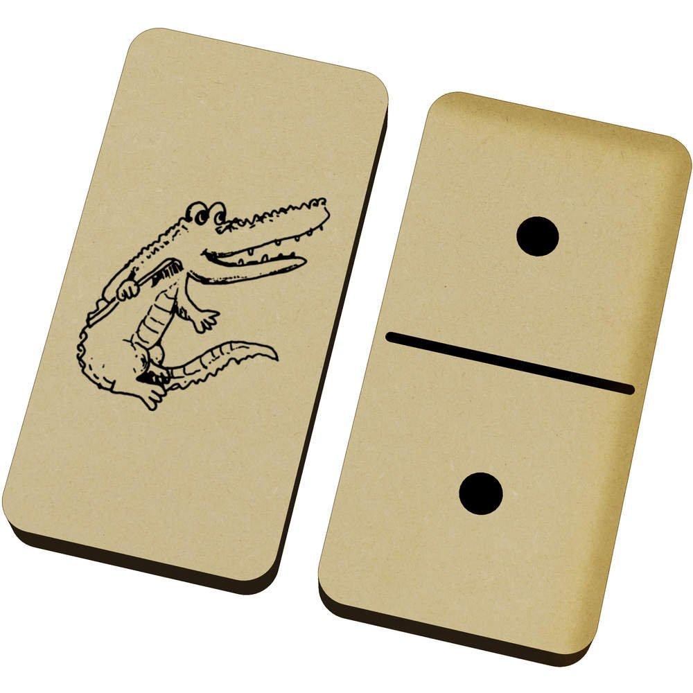 Azeeda Cocodrilo con Cepillo de Dientes Domino Juego y Caja (DM00003901): Amazon.es: Juguetes y juegos