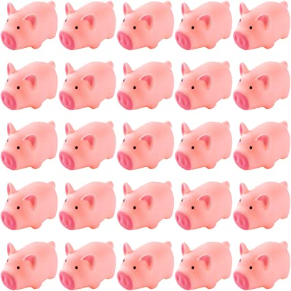 LOUHUA 200 Pieces 1 Inch Mini Plastic Baby Favor Supplies for Baby Shower Game Party Decor