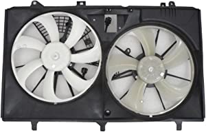 Dual Radiator and Condenser Fan Assembly - Cooling Direct For/Fit TO3115167 11-13 Toyota Sienna 2.7L 10-15 Lexus RX 350 3.5L w/o Tow