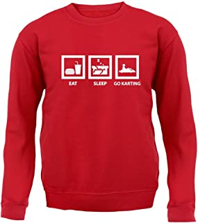 Eat Sleep Go Karting - Kids Sweatshirt / Sweater - 8 Colours