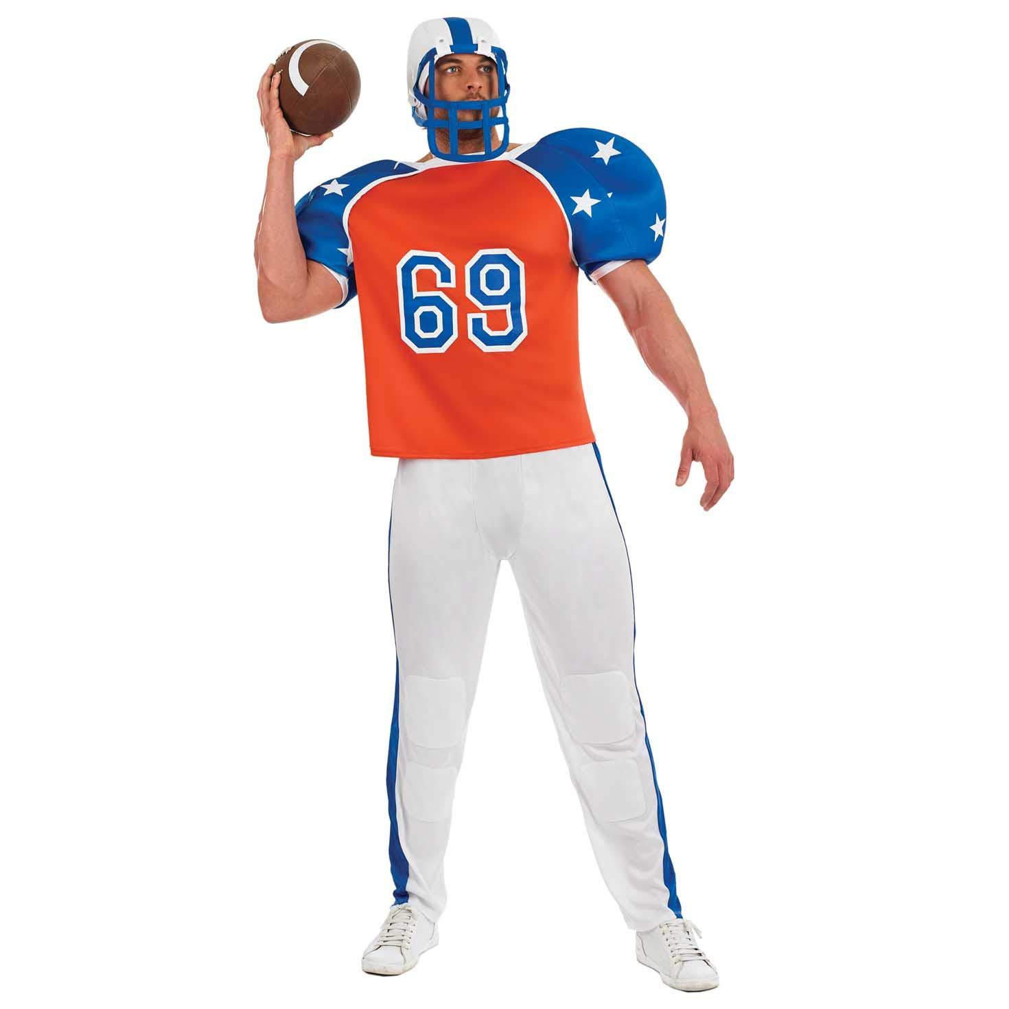 Fun Shack Rojo Futbolista Americano Disfraz para Hombres - XL ...