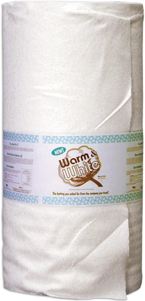 2531 Full//Queen Size Cotton Batting By-The-Yard Renewed White WARM COMPANY