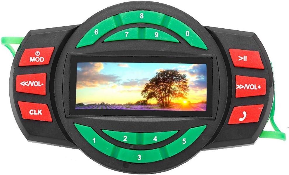 Impermeable LCD Motocicleta Reproductor de MP3 BT FM Radio Altavoz con Carga de tel/éfono KIMISS Motocicleta USB Cargador