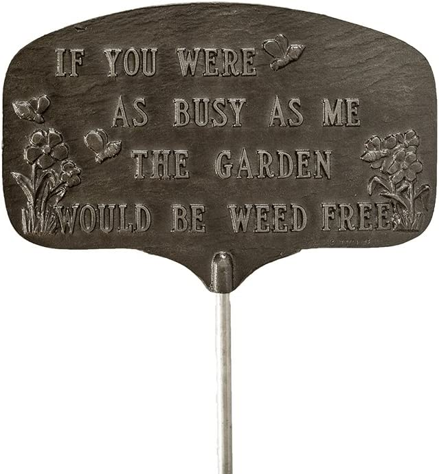 Montague Metal Products Busy Bee Garden Plaque, Swedish Iron