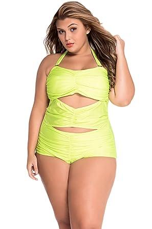 Amazon.com  Sunshine Black Sweetheart Ruched Plus Size Swimsuit for Women   Clothing 35f513fea5