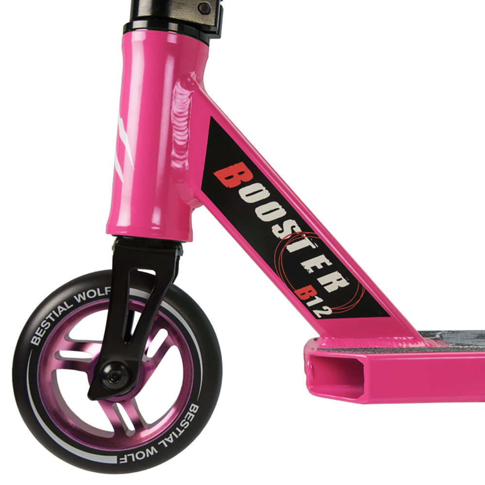 BESTIAL WOLF Booster B12, Scooter Pro, Manillar Negro y Tabla Color