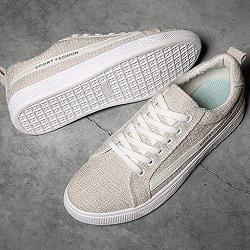 estate coreana di dimensioni 5 traspirante lino UK8 Scarpe Colore XIANG Beige CN43 canvas Nero SHI maschio scarpe EU42 tela uomo di SHOP versione LI da shoes casual 1vwZnSTxq