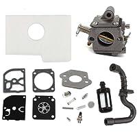 AISEN Carburateur + Carb Membrane Reparation Kit Filtre à Air pour STIHL MS170 MS180 017 018 Zama C1Q-S57