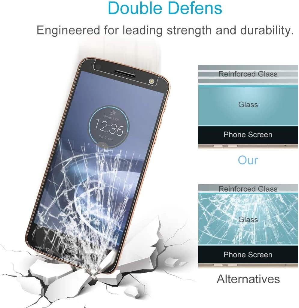CAIFENG Tempered Glass Film Screen Protector 100 PCS 0.26mm 9H 2.5D Tempered Glass Film for Motorola Moto Z Force Anti-Scratch