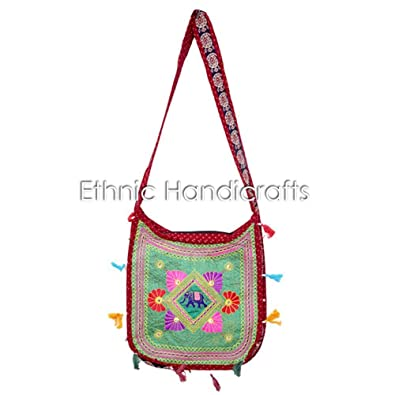 Image Unavailable. Image not available for. Color  Ethnic Handmade Womens  Bag Hippie Cross Body Bag Shoulder Bag Embroidered Purse ... 52e9500f8d516