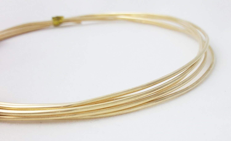 8 Gauge Dead Soft Red Brass Wire Round CDA #230-5FT from Craft Wire