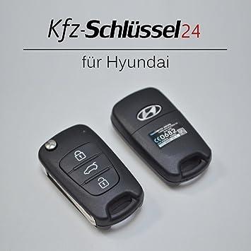 Carcasa para mando de Hyundai i10 i20 i30 ix35 ix20 Elantra, 3 teclas, llaves para coche: Amazon.es: Coche y moto