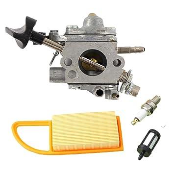 Salvador carburador con combustible filtro de aire y bujía para c1q-s183 C1q-s184