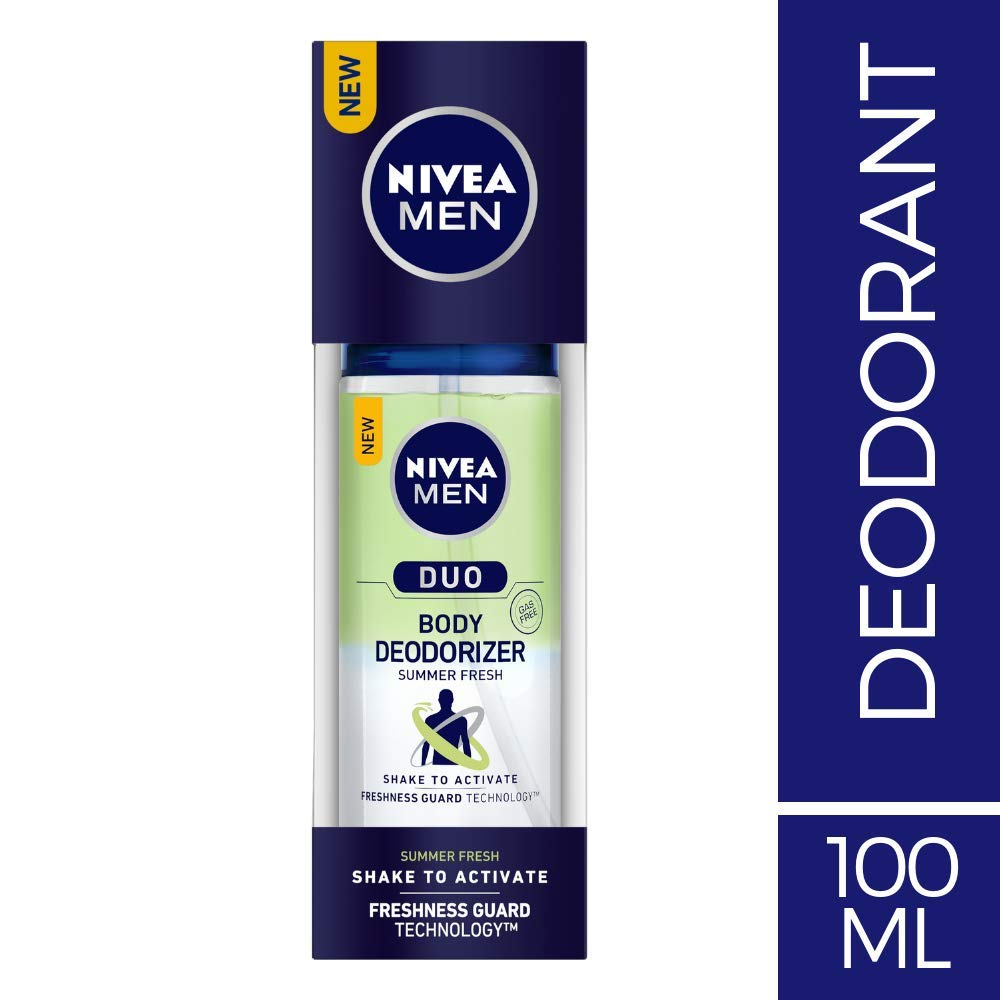 NIVEA MEN Body Deodorizers, Duo Summer Fresh, Gas Free,100ml