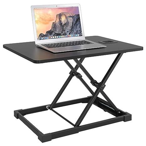 Schreibtischaufsatz Computertisch Steharbeitsplatz Sit-Stand Höhenverstellbar DE