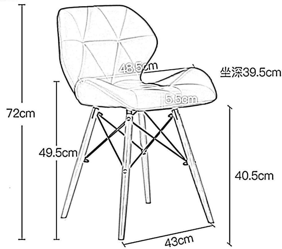 HYYYH kontorsstol snurrstol matsalsstol datorstol massivt träben förtjockad sits med ryggstöd hemmakontor fritid stol, vit Brun