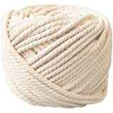 Ialwiyo Handmade Decorations Natural Cotton Bohemia Macrame DIY Wall Hanging Plant Hanger Craft Making Knitting Cord Rope Natural Color Beige (4mm x 100m(about 109 yd))