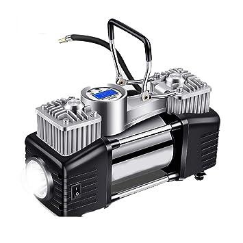 QXKMZ Compresor aire inflador neumaticos Bomba de Aire portátil Compresor Digital neumáticos Bomba de compresor de aire Pantalla LCD Fácil de almacenar ...