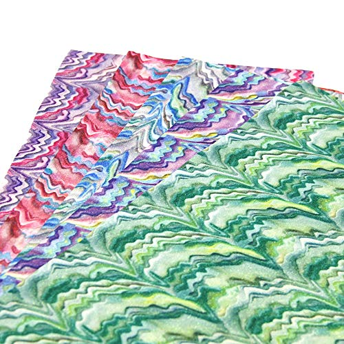 (David Angie Glitter Rainbow Chevron Synthetic Leather Sheets 5 Pcs 8