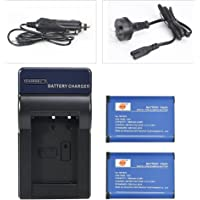 DSTE Replacement for 2X NP-BX1 Battery + DC134 Travel Charger Kit Compatible Sony DSC-H400 HX50 RX100 II III IV WX300 WX350 WX500 HDR-GW66V CX240 RX100IV DSC-RX1 RM2 AS50 RX1R II RX10 II DSC-RX100 VII Camera
