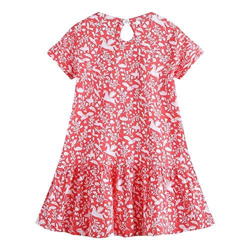 - Easter Dress Little Girl A Line Applique Tunic Green Organic Cotton Casual Spring Summer Dress Short Sleeve