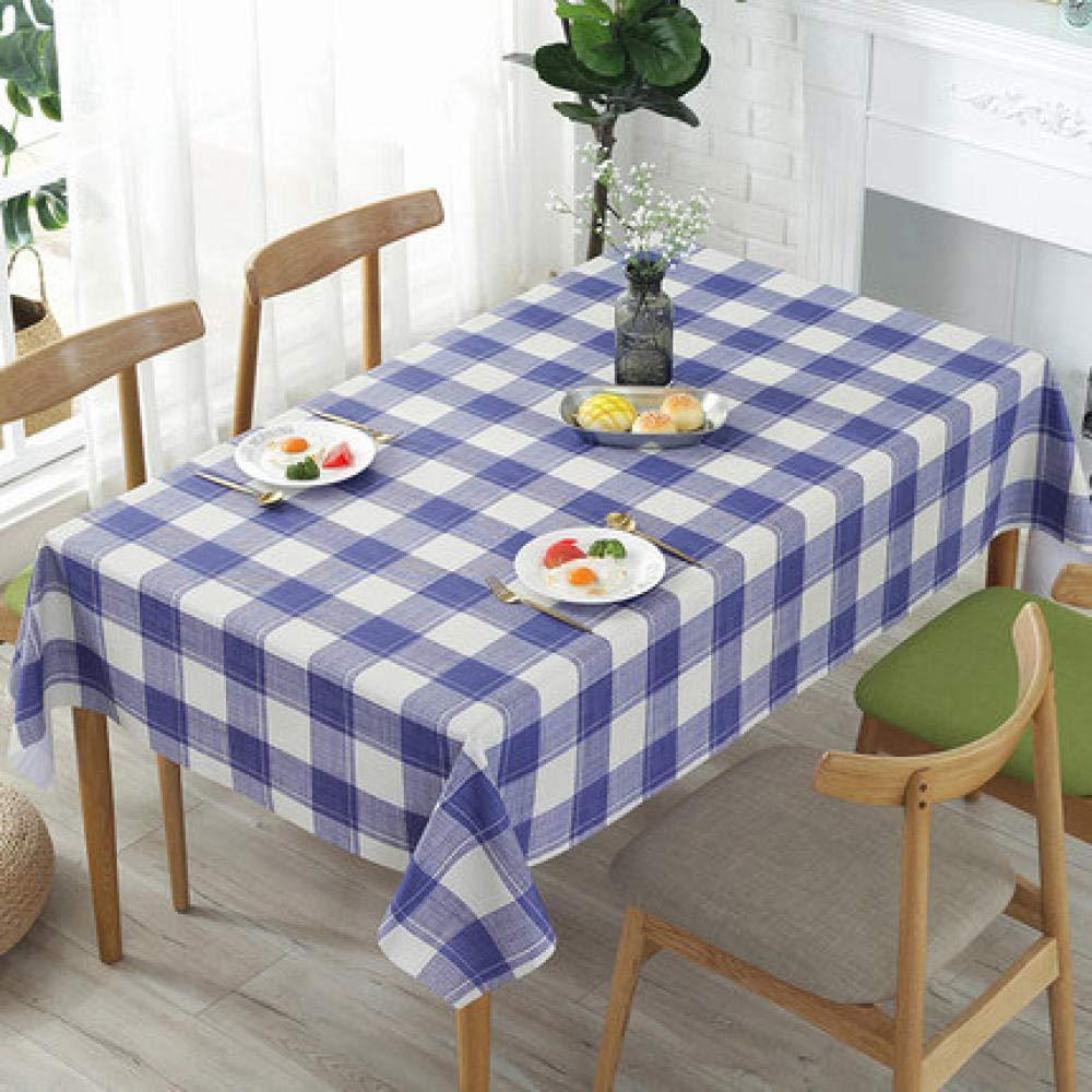 WJJYTX tischdecke Plastik, Modern/Protector Textilrücken Rural Style Blue @ 120 * 160