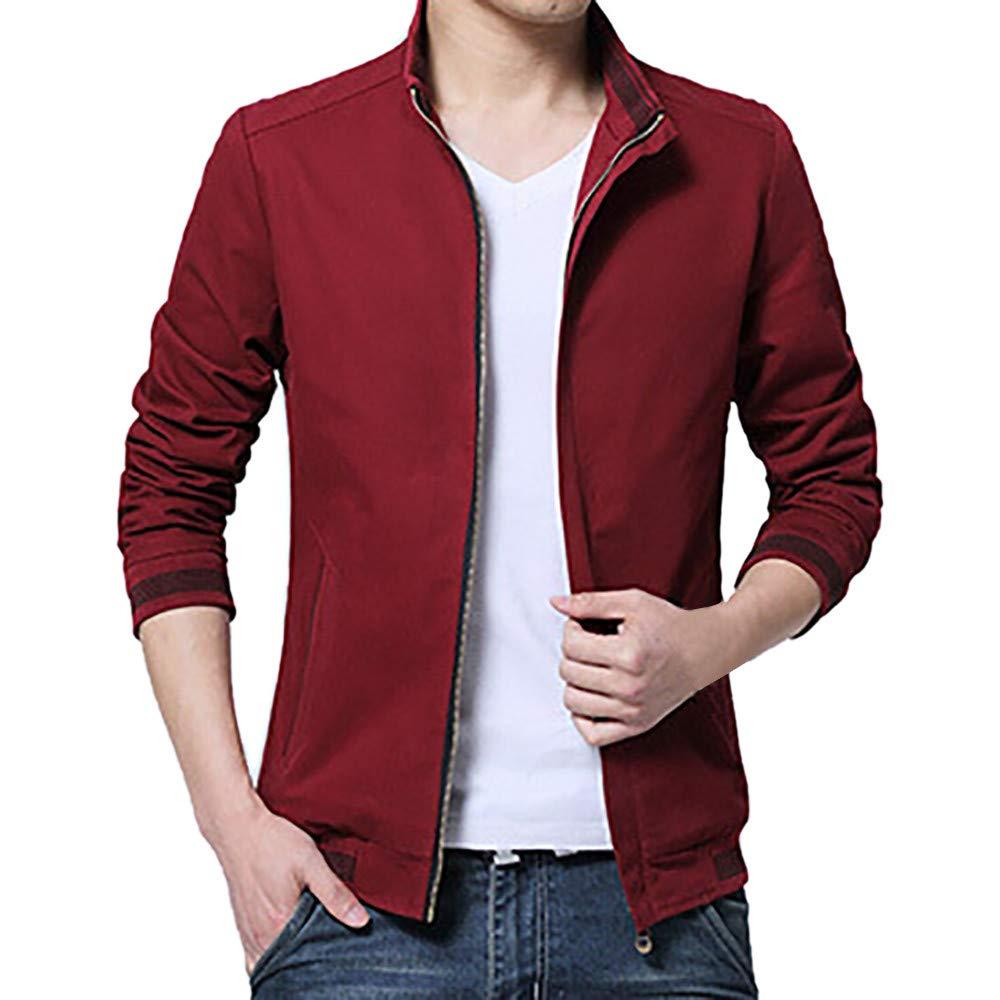 Nevera Men Winter Casual Business Slim Zipper Stand Collar Baseball Jacket Coat