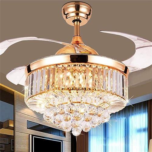 Kankanray 42'' Crystal Ceiling Fan Light