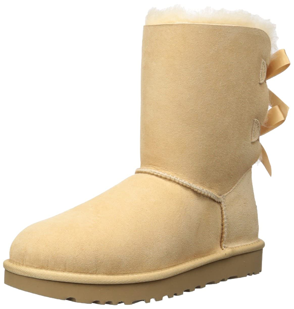 fce08211b2a UGG Women's Bailey Bow II Fashion Boot, Soft Ochre, 7 M US