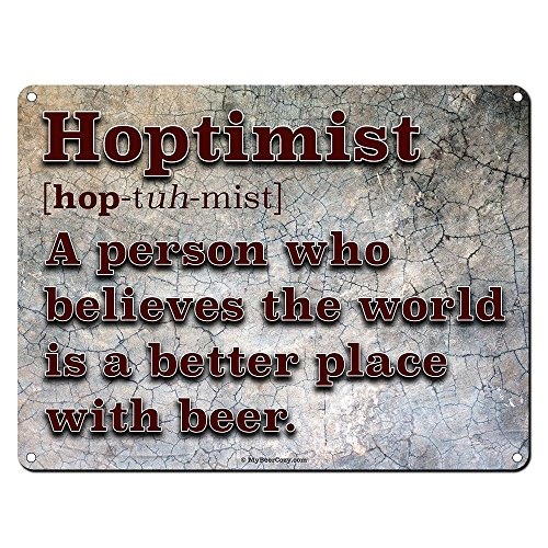 Hoptimist Definition ~ Funny Beer Signs ~ 9