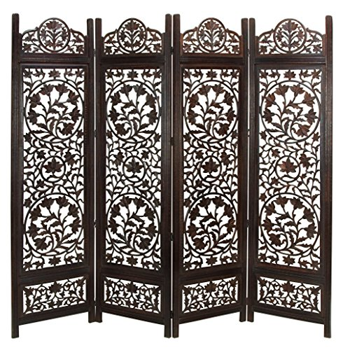 Deco 79 14276 Wood Screen 4 Panel Decorative Protection from Deco 79
