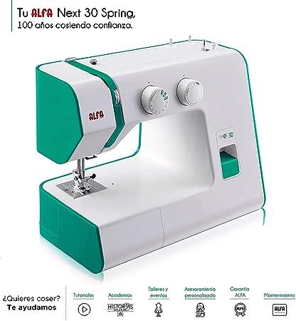 Alfa Maquina De Coser Nex, Verde, 30 X 19 X 37 Cm: Amazon.es: Hogar