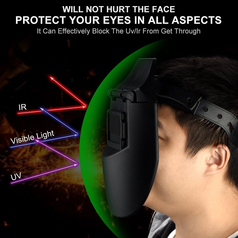 Careta de Soldar Walfront Cubierta Solar Profesional de Oscurecimiento Automático Máscara facial Protector: Amazon.es: Industria, empresas y ciencia