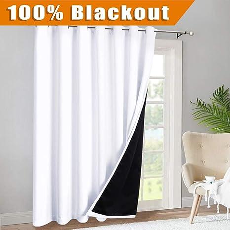 Amazoncom Ryb Home Sliding Glass Door 100 Blackout Curtains Extra