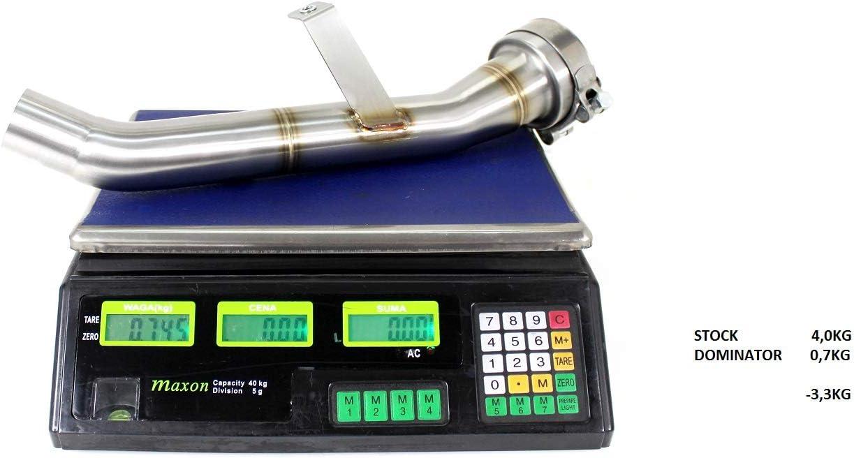 DE-CAT DECAT Cat Eliminator Pipe Dominator compatible with GSXS GSX-S 1000 15-19 2015-2019