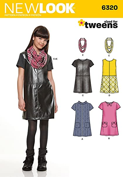 26c8307157c New Look Size A 8 - 10 - 12 - 14 - 16 Tweens Sewing Pattern 6320 ...