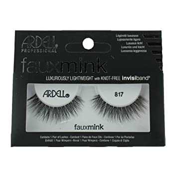 7120f19f7c7 Amazon.com : Ardell Faux Mink Strip Lashes 817 Black : Beauty