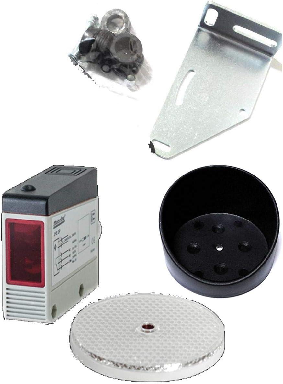Fotocelula Profesional de Espejo multitension JFE SP. 240V / 24V. JFE SP + Proteccion. Fotocélula infrarroja Exterior reflexiva 12 Metros. Universal para Cualquier Tipo de Puertas de Garaje
