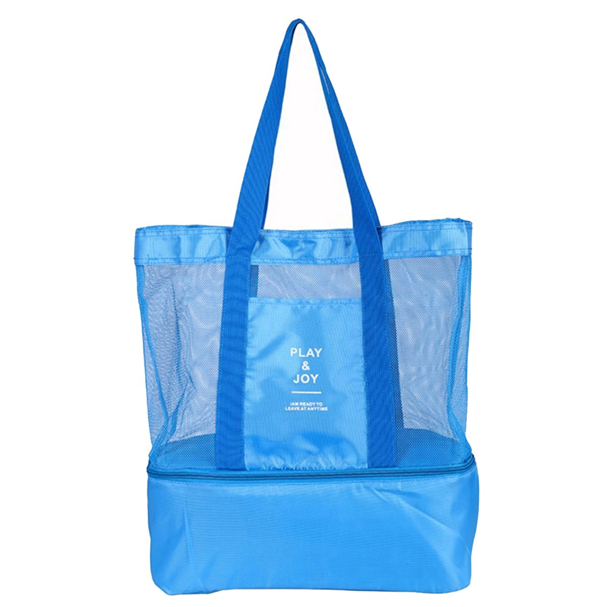Kayphil Waterproof Beach Mesh Tote Bags Portable Insulated Picnic Cooler