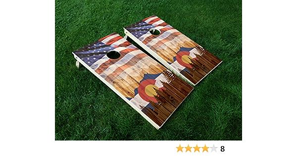 2 Colorado State Rams dark Cornhole Wraps Pair of Board Decals