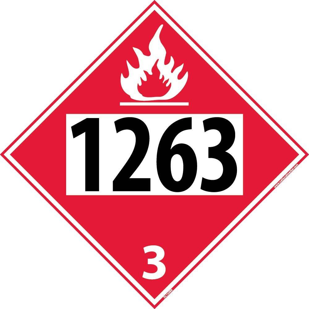 DL138BR National Marker 1263 3 Dot Placard Sign National Marker Corporation