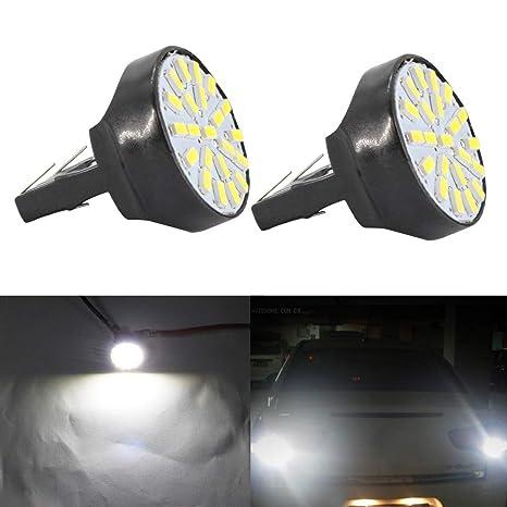 Exterior de luces LED para automóviles, 7443 Bombilla LED 7440 / T20 / 7444NA 22-SMD 1206 12V ...