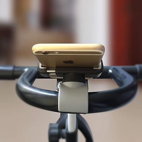 Universelle Handyhalterung Verstellbare Breite Für Einkaufswagen Training Radfahren Samsung Galaxy Iphone Lg Freihändige Halterung Für Training Und Shopping Elektronik