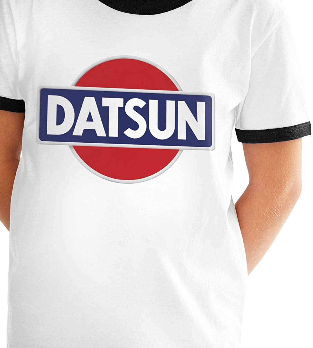 Manlee Datsun Emblem Car Logo Unisex Childrens Short Sleeve T-Shirt Kids Or Little Boys and Girls