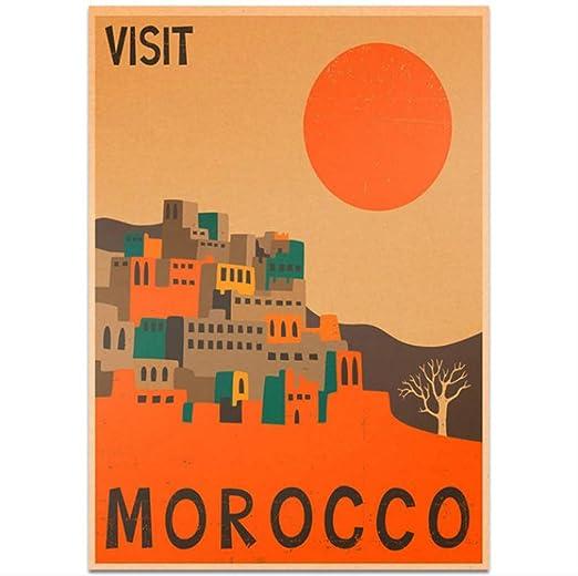 hzcl Cartel del Papel, Marruecos Ciudad De Viaje Cartel ...
