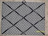 Black and White Checker French / Memo Board