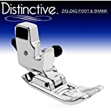 """Distinctive Zig Zag """"A"""" or """"J"""" Sewing Machine Presser Foot With Low Shank Adaptor- Fits All Low Shank Singer, Brother, Babylock, Euro-Pro, Janome, Kenmore, White, Juki, New Home, Simplicity, Elna and More!"""