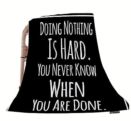 Amazoncom Hgod Designs Quotes Throw Blanketfunny Inspirational